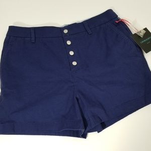 Cynthia Rowley High Waisted Blue Shorts Button